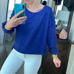 Royal blue cropped sweater/sweatshirt, Size M
